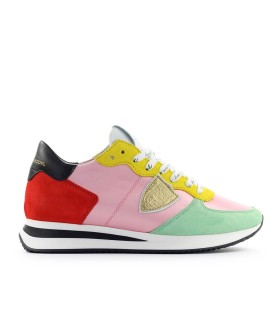SNEAKER TRPX SATIN POP ROSA ROSSO PHILIPPE MODEL